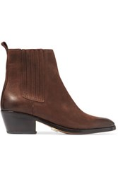 Michael Kors Collection Patrice Suede Ankle Boots Chocolate