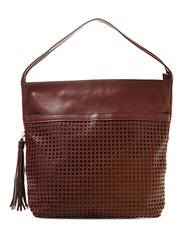 Big Buddha Bev Leatherette Hobo Bag Wine