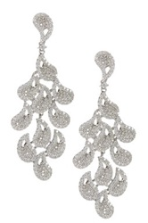 Multi Drop Cz Chandelier Earrings Metallic