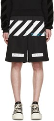 Off White Black Mesh 'Blue Collar' Shorts