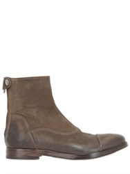 Alberto Fasciani Washed Suede Ankle Boots