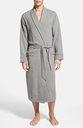 Men's Nordstrom Thermal Knit Robe Light Heather Grey