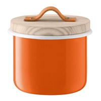 Lsa International Utility Container And Ash Lid Pumpkin Orange