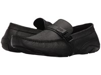 Kenneth Cole Reaction Toast 2 Me Black Saffiano Men's Slip On Shoes