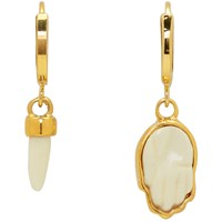 Isabel Marant Gold Horn And Hand Earrings