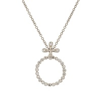 Cathy Waterman Diamond Circlet Pendant Necklace