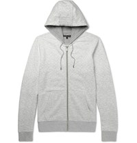 Michael Kors Degrade Loopback Cotton Jersey Zip Up Hoodie Gray
