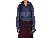 Sacai Women's Crop Puffer Coat Navy