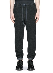 Sacai Nylon Elastic Cuff Tweed Jogging Pants Blue