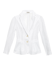 Nina Ricci Broderie Anglaise Single Breasted Jacket