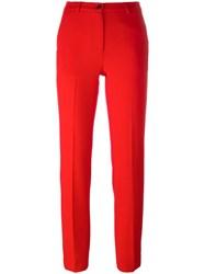 Piccione.Piccione Piccione. Piccione Straight Trousers Red