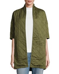 Current Elliott Quilted Car Coat Hunter Green