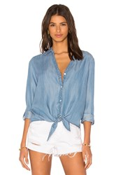 Soft Joie Crysta Button Down Top Blue
