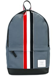 Thom Browne Striped Backpack Blue