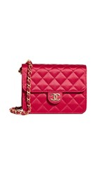 Wgaca What Goes Around Comes Around Chanel Red Satin Crossbody Bag