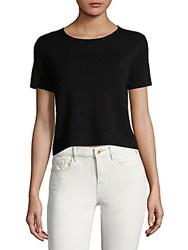 Saks Fifth Avenue Cropped Tee Black