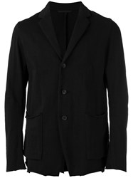 The Viridi Anne Patch Pockets Blazer Black
