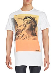 Bench Statue Of Liberty Graphic Tee Bright White