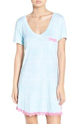 Honeydew Intimates Women's 'All American' Sleep Shirt Snow Mint Geo