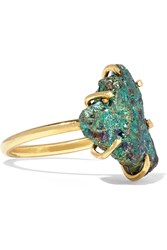 Dara Ettinger Gold Plated Stone Ring Metallic