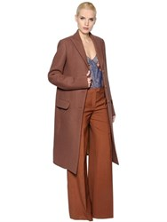 Nina Ricci Stretch Felted Wool Coat