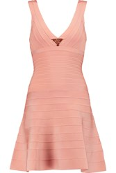 Herve Leger Embellished Bandage Dress Pink