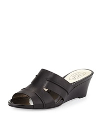 Circa Joan And David Shanna Slide Wedge Sandal Black