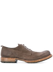 Moma Smooth Lace Up Shoes Brown