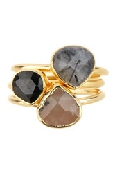 Janna Conner Rada Rutilated Quartz Stacked Ring Set No Color
