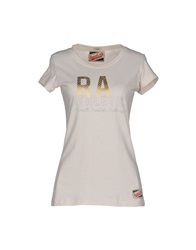 Russell Athletic T Shirts Beige