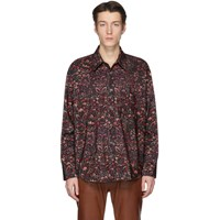 Our Legacy Multicolor Floral Wallpaper Shirt