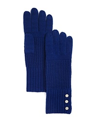 Michael Kors Waffle Stitch Gloves 100 Bloomingdale's Exclusive Sapphire