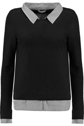 Joie Rika Waffle Knit Wool And Cashmere Blend Sweater Black