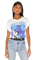 Daydreamer Guns N' Roses Use Your Illusion Ii Weekend Tee In White. Vintage White