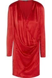 Balmain Draped Wrap Effect Silk Tunic