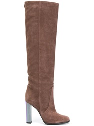 Pollini Knee Length Boots Brown