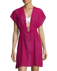 Gottex Jezebel Chiffon Beach Dress Wine
