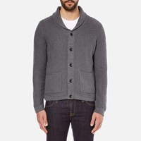 Rag And Bone Men's Avery Shawl Cardigan Charcoal