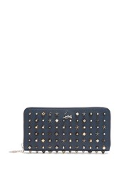 Christian Louboutin Panettone Stud Embellished Leather Wallet Navy