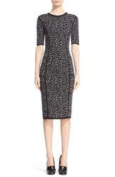 Michael Kors Women's Leopard Print Midi Sheath Dress