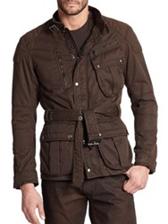 Ralph Lauren Black Label Four Pocket Pilot Jacket Brown