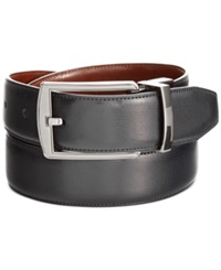 Perry Ellis Big And Tall Reversible Feather Stitch Edge Belt Black Brown