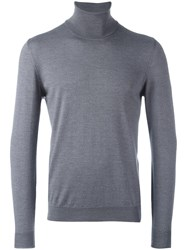 Zanone Turtle Neck Jumper Grey
