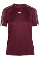 Adidas Originals By Alexander Wang Embroidered Jacquard T Shirt Merlot