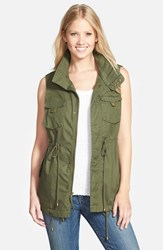Pleione Women's Cotton Twill Military Vest