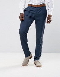 Mango Man Slim Fit Check Suit Trousers In Navy Navy