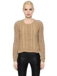 Ermanno Scervino Embellished Alpaca Wool Sweater