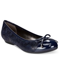 Karen Scott Rylee Flats Only At Macy's Women's Shoes Navy Paisley