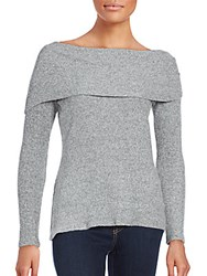 Red Haute Off The Shoulder Style Sweater Heather Grey