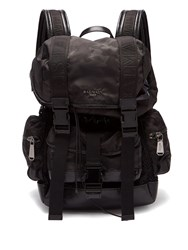Balmain Camouflage Print Nylon Backpack Black Multi